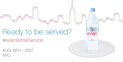 evian twitter online marketing